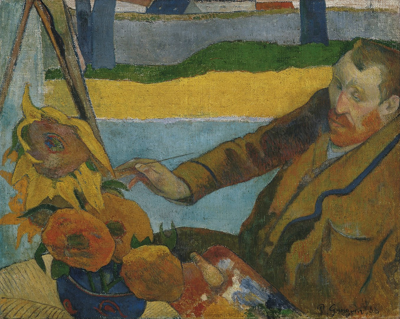 1356px-Paul_Gauguin_-_Vincent_van_Gogh_painting_sunflowers_-_Google_Art_Project