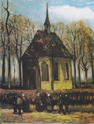 820px-Van_Gogh_-_Die_Kirche_von_Nuenen_mit_Kirchgängern