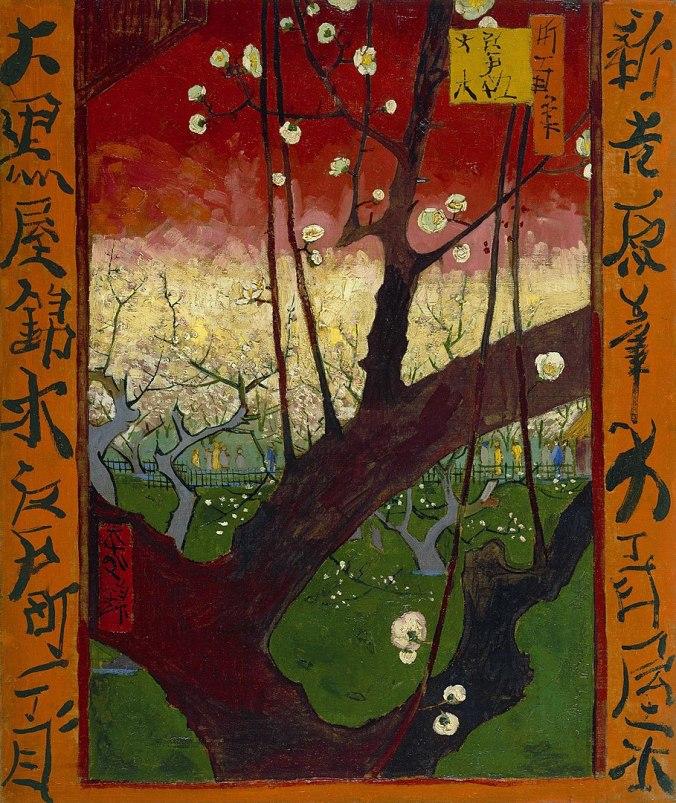 909px-Vincent_van_Gogh_-_Bloeiende_pruimenboomgaard-_naar_Hiroshige_-_Google_Art_Project